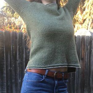 Green JCREW sweater
